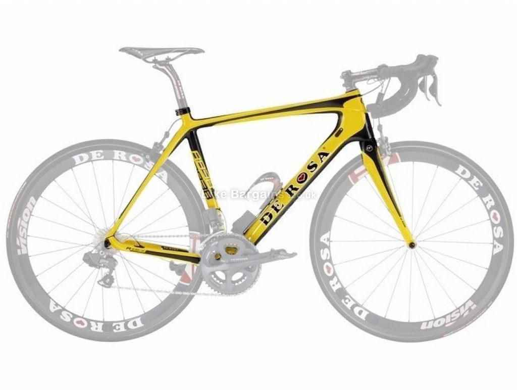 De Rosa 838 Calipers Carbon Road Frame 46cm, Yellow, Black, Carbon, 700c, Caliper Brakes