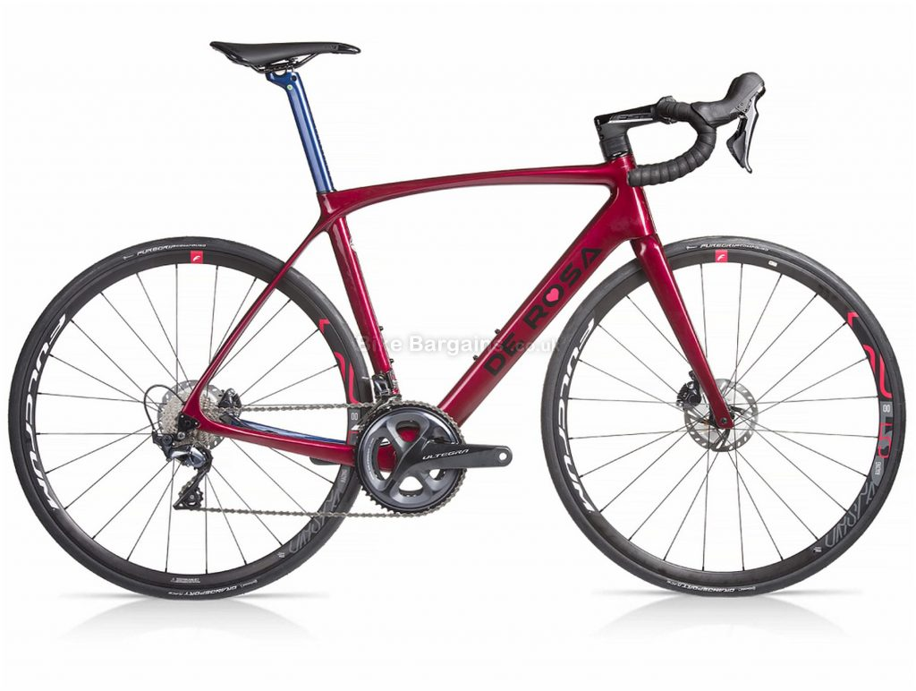 De Rosa Idol Ultegra Carbon Road Bike 2020 48cm, 51cm, 53cm, 56cm, Red, Grey, Carbon, 700c, 11 Speed, Double Chainring, Disc