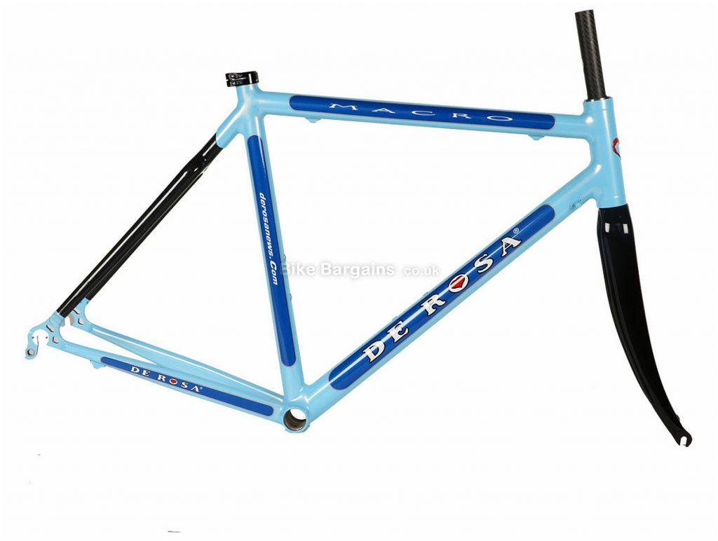 De Rosa Macro Calipers Alloy Carbon Road Frame 52cm, Blue, Black, Alloy, Carbon, 700c, Caliper Brakes