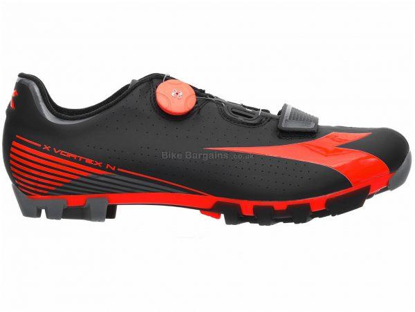 Diadora X Vortex Nano SPD MTB Shoes 39,40, Black, Red, 345g, Men's, MTB, Composite, Boa, Velcro