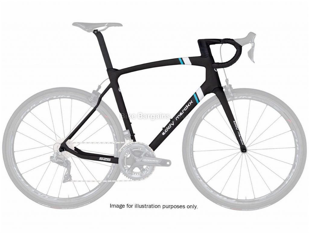 Eddy Merckx 525 Calipers Carbon Road Frame M, Black, Carbon, 700c, Caliper Brakes