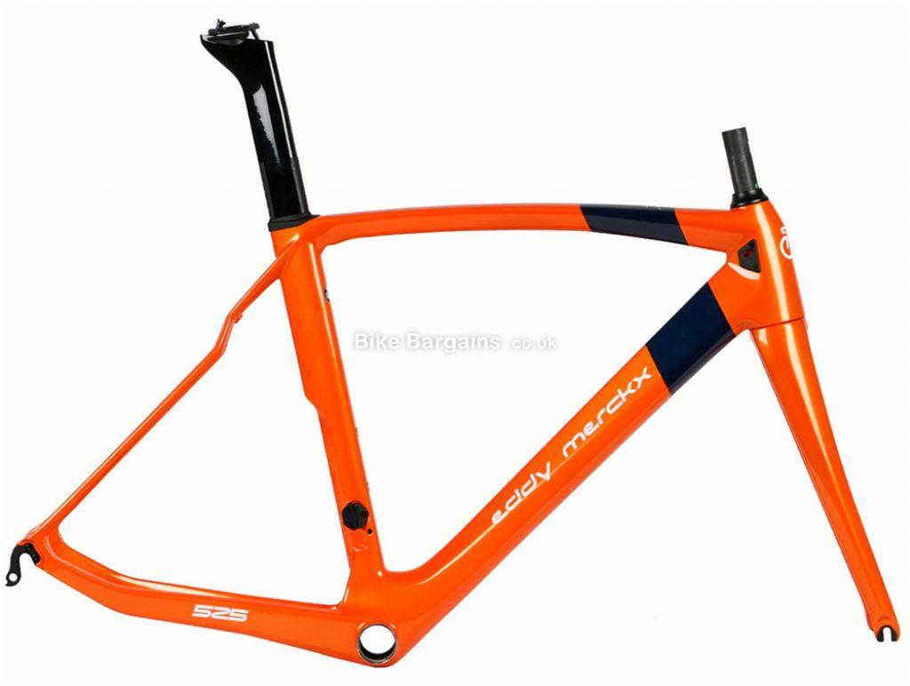 Eddy Merckx EM525 Endurance Calipers Carbon Road Frame 2019 XS, Orange, Carbon, 700c, Caliper Brakes