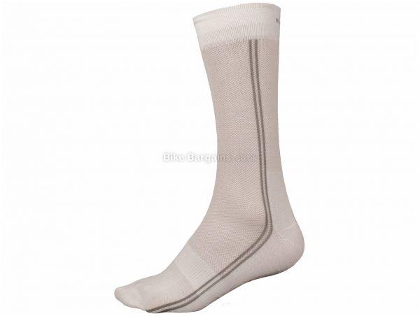 Endura CoolMax Long Socks Twin Pack S,M, White