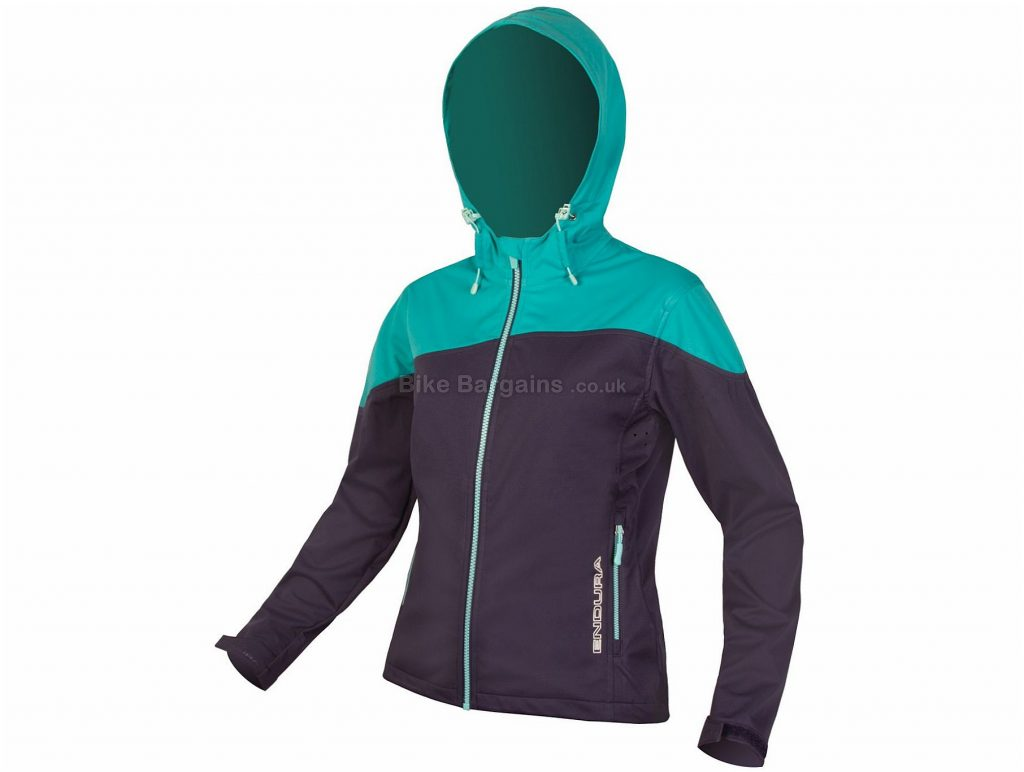 Endura Ladies SingleTrack Softshell Jacket 2017 XS, Pink, Blue, Long Sleeve