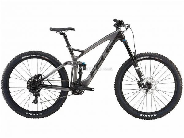 "Felt Compulsion 3 Carbon Full Suspension Mountain Bike 2019 16"", Grey, Carbon, 27.5"", 12 Speed, Single Chainring, Disc, Full Suspension"