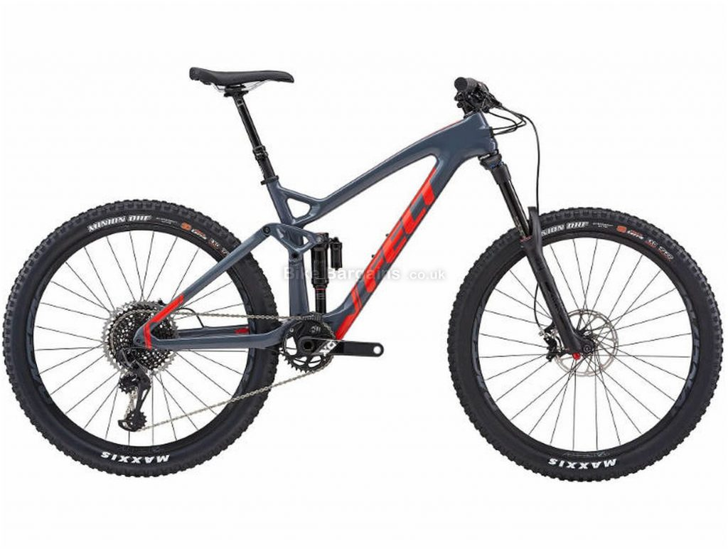 "Felt Decree 1 Carbon Full Suspension Mountain Bike 2019 16"", Grey, Black, Carbon, 27.5"", 12 Speed, Single Chainring, Disc, Full Suspension"