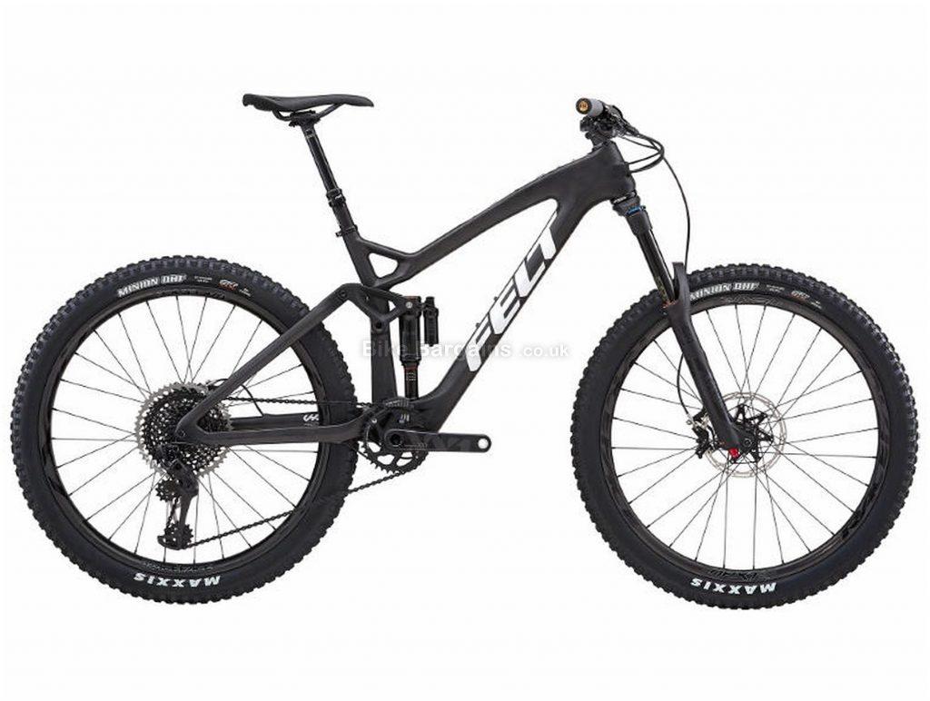 "Felt Decree FRD Carbon Full Suspension Mountain Bike 2019 16"",18"",20"", Black, Carbon, 27.5"", 12 Speed, Single Chainring, Disc, Full Suspension"
