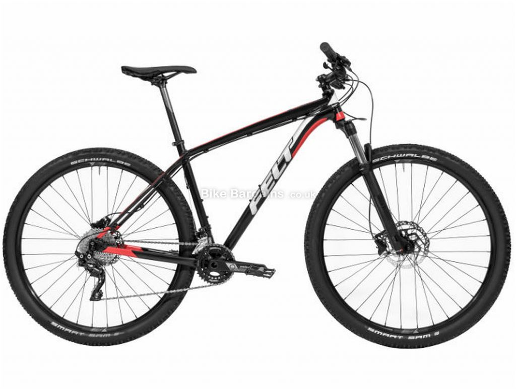 "Felt Dispatch 9/45 Hardtail Mountain Bike 2019 14"", 18"", Black, Alloy, 20 Speed, Disc, 29"""