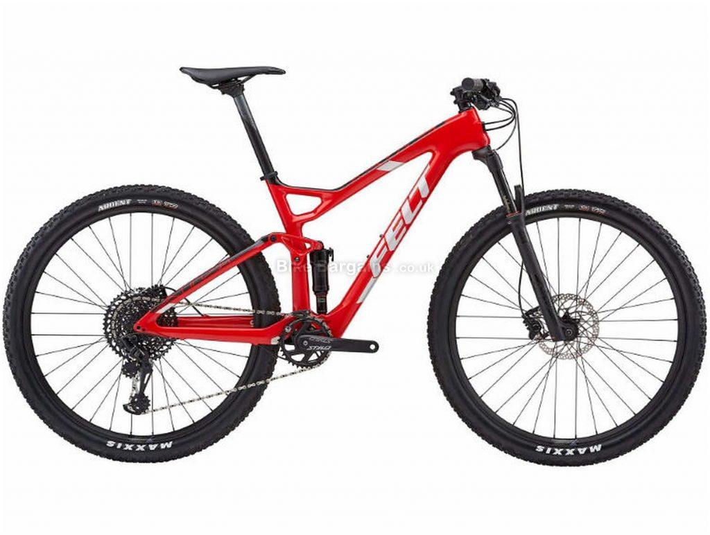 "Felt Edict 3 Carbon Full Suspension Mountain Bike 2019 16"", Red, 29"", Full Suspension, 12 Speed, Disc, Single Chainring"