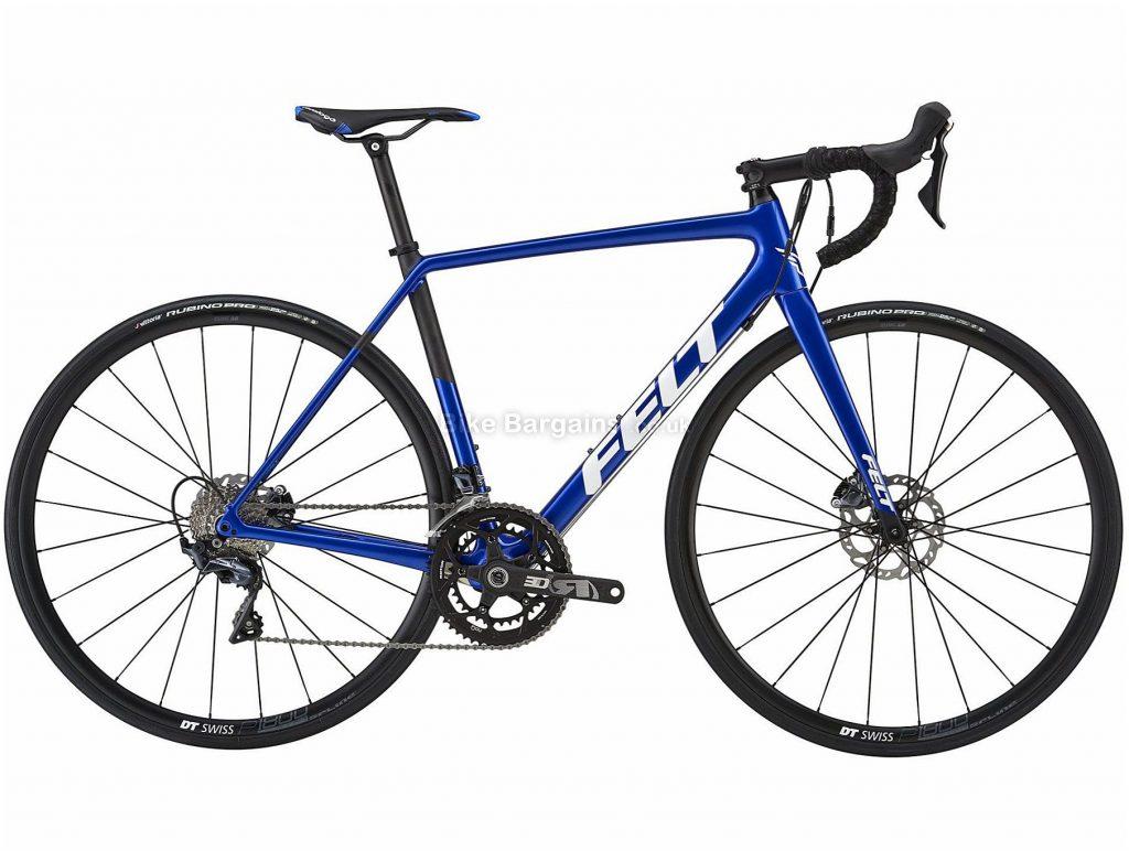 Felt FR3 Disc Carbon Road Bike 2019 51cm, Blue, Carbon, 11 Speed, Disc, Double Chainring
