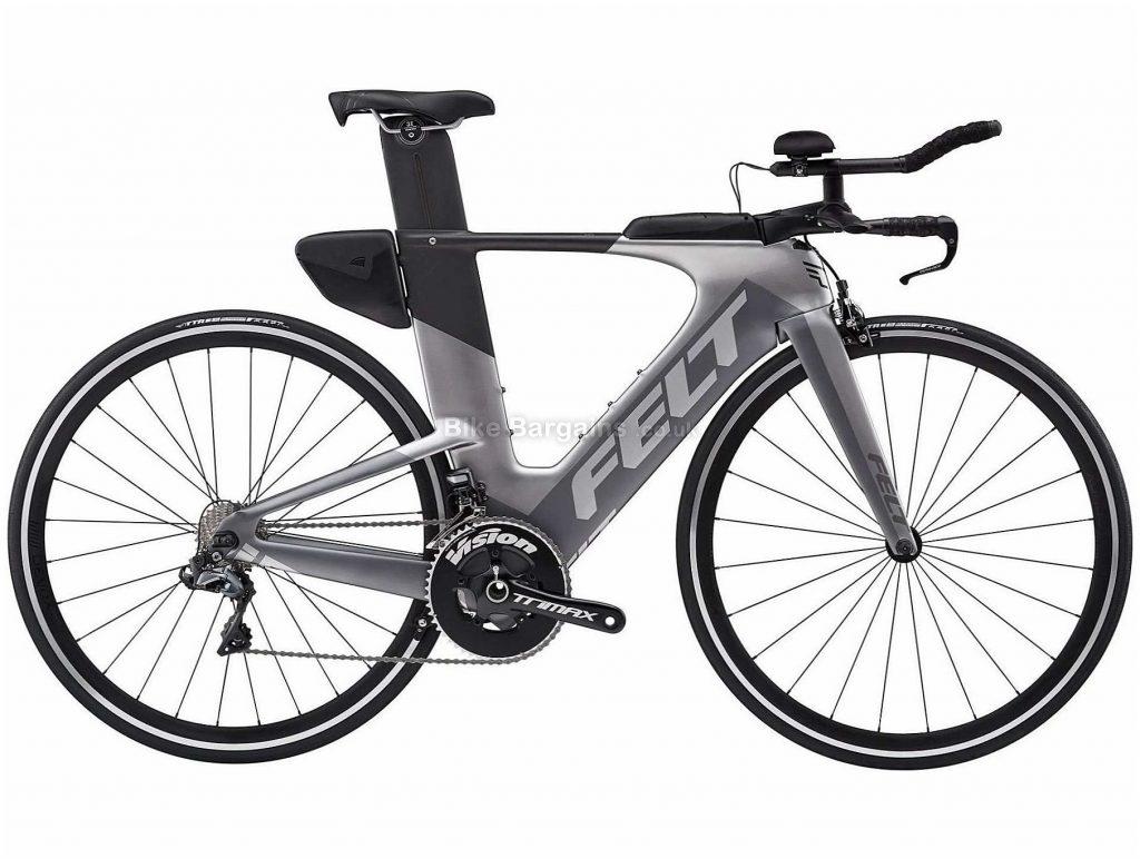 Felt IA10 Di2 TT Carbon Road Bike 2019 54cm, Grey, Black, 700c, Carbon, 11 speed, Caliper Brakes, Single Chainring, 7.5kg