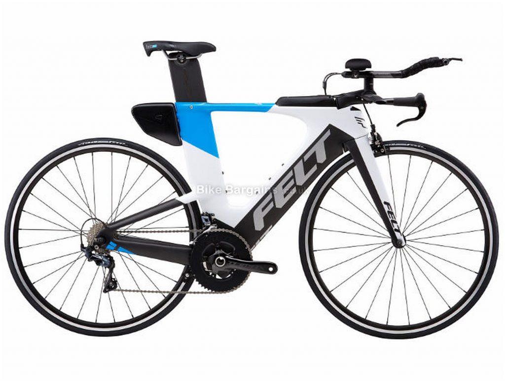 Felt IA14 TT Carbon Road Bike 2019 51cm,54cm, Black, White, Blue, Carbon, 700c, 11 Speed, Double Chainring, Caliper Brakes