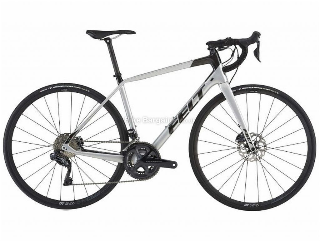 Felt VR2 Di2 Disc Carbon Road Bike 2019 54cm, Silver, Black, Carbon, 11 Speed, Disc, Double Chainring, 7.9kg