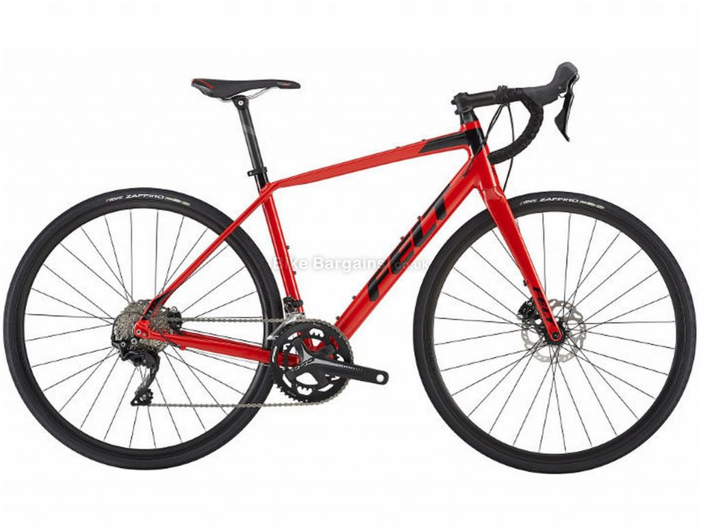 Felt VR30 Disc Alloy Road Bike 2019 51cm, Red, Alloy, 11 Speed, Disc, Double Chainring