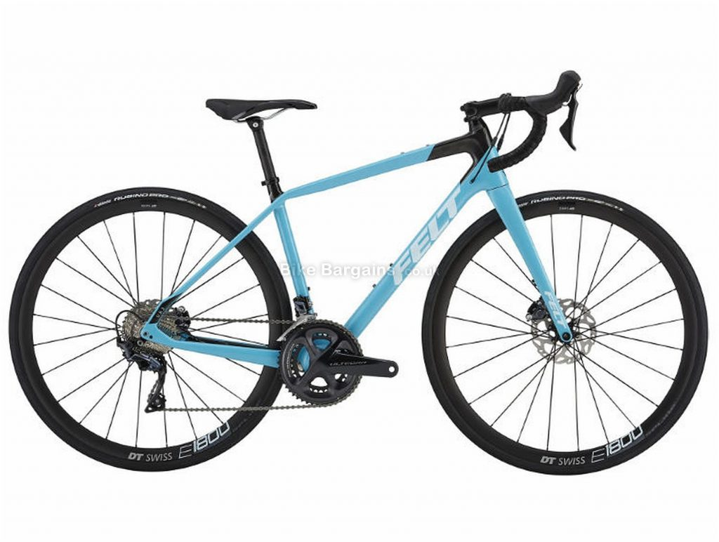 Felt VR3W Disc Ladies Carbon Road Bike 2019 43cm, 47cm, 56cm, Blue, Carbon, 11 Speed, Disc, Double Chainring