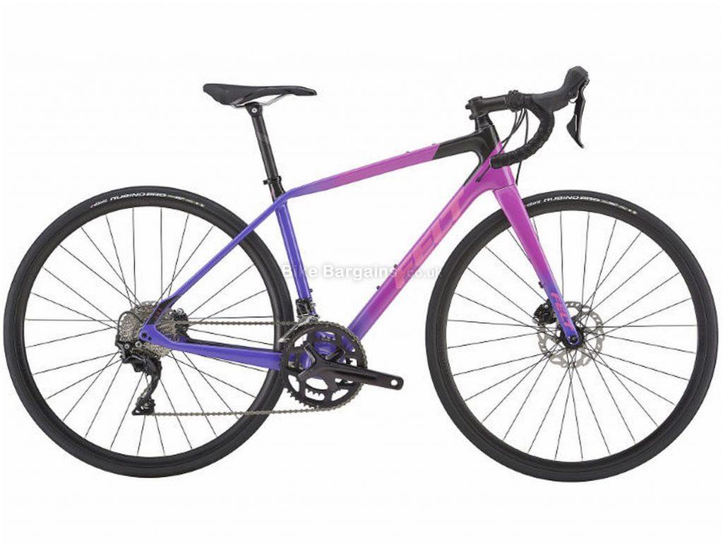Felt VR5W Disc Ladies Carbon Road Bike 2019 56cm, Pink, Purple, Carbon, 11 Speed, Disc, Double Chainring