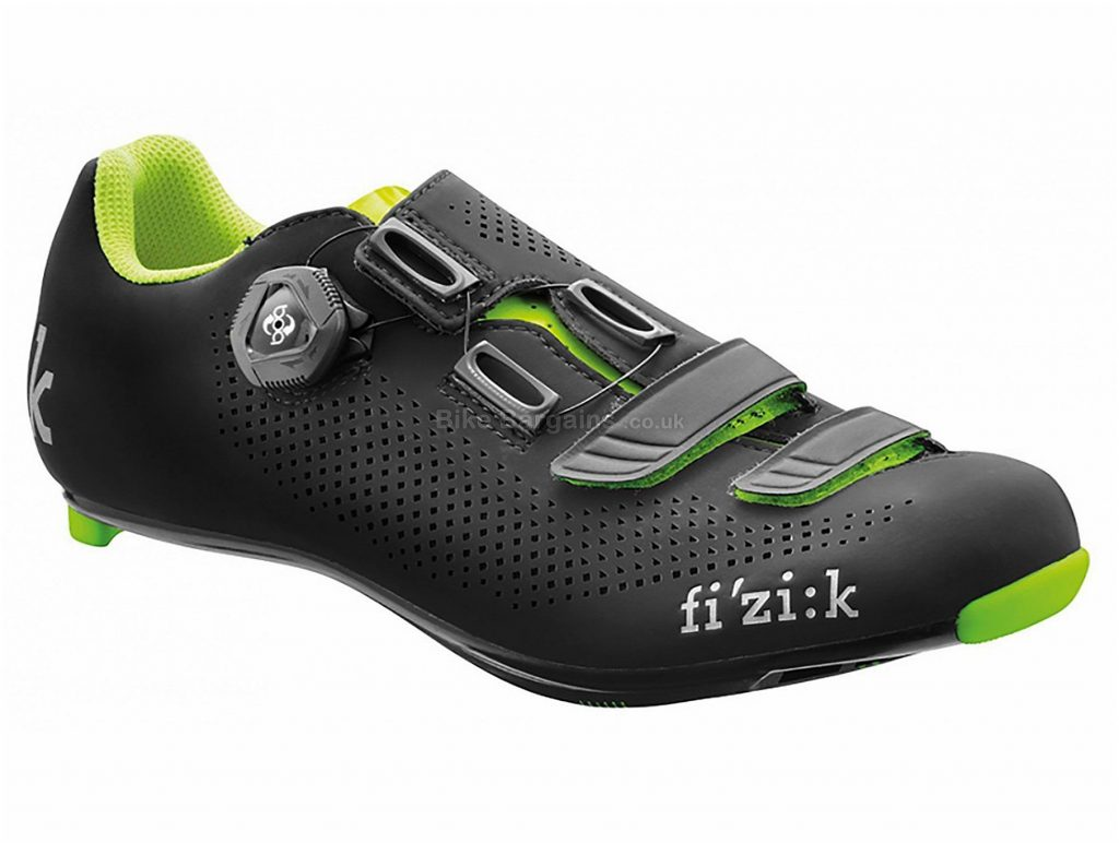 Fizik R4B Uomo Road Shoes 41,42,44,45, Blue, Black, 254g, Men's, Road, Carbon, Boa, Velcro