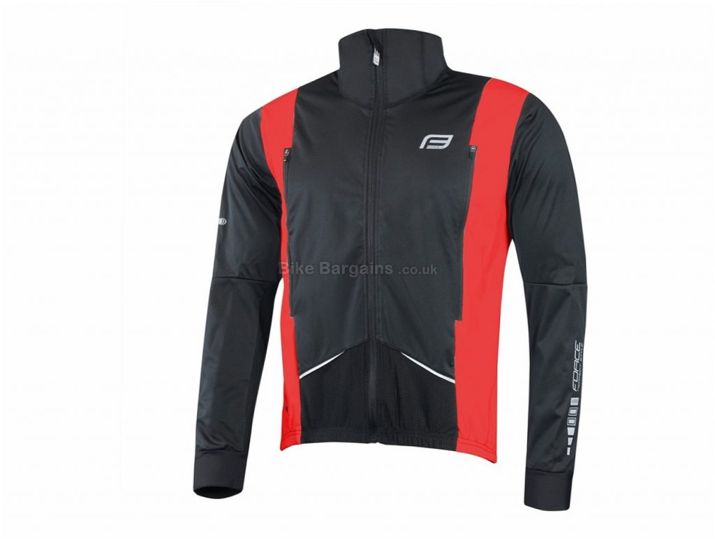Force X58 Cycling Jacket M, Black, Red, Yellow, Long Sleeve