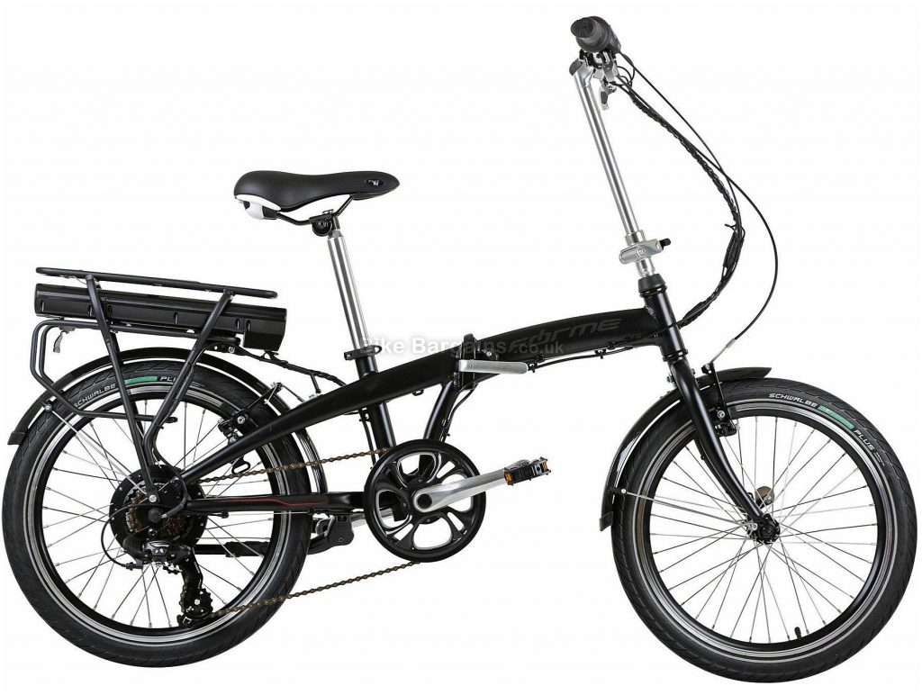 "Forme Buxton Folder Alloy E-Bike 18"", Black, Alloy, 20"", Caliper Brakes, 6 Speed"