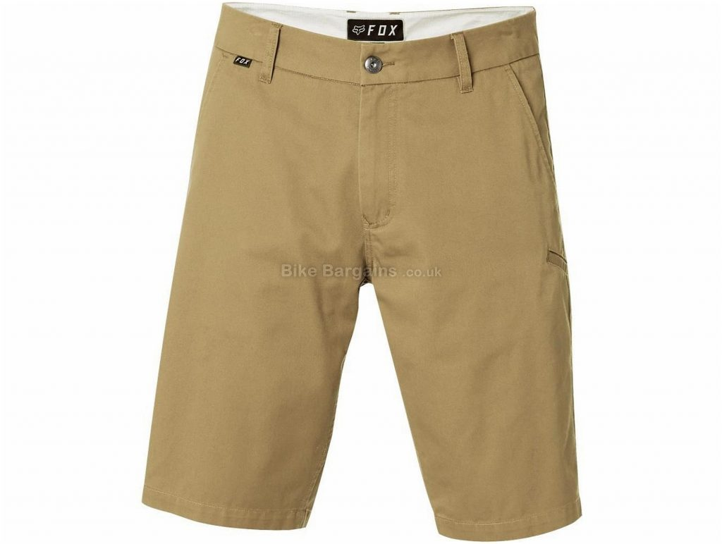 "Fox Clothing Essex Shorts 28"", Brown, Grey"
