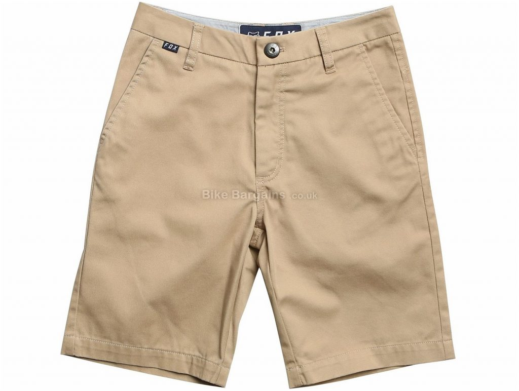 "Fox Clothing Essex Youth Shorts 23"", Brown, Grey, Black"