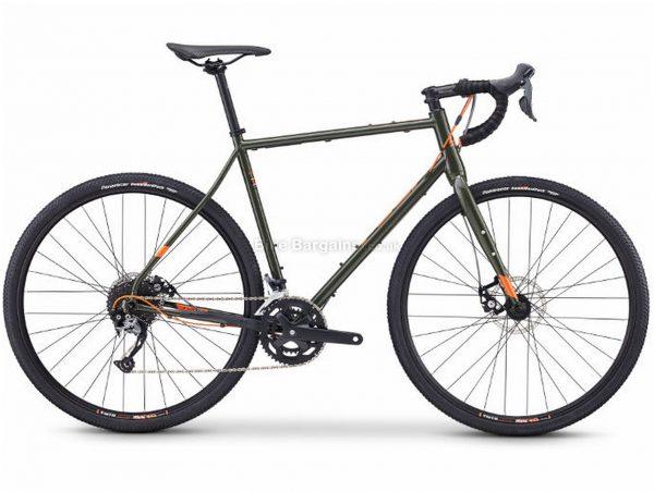 Fuji Jari 2.3 Adventure Steel Road Bike 2020 61cm, Green, Steel, 700c, 9 Speed, Double Chainring, Disc, 12.98kg