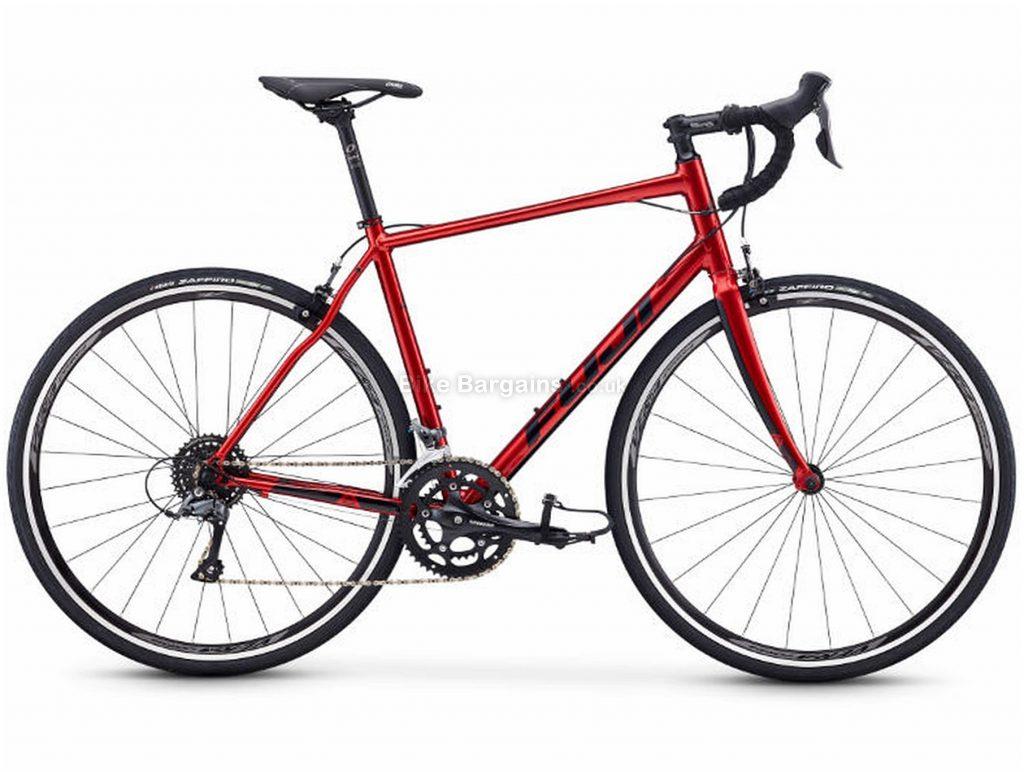 Fuji Sportif 2.3 Alloy Road Bike 2020 49cm, Red, Alloy, 700c, 8 Speed, Double Chainring, Caliper Brakes
