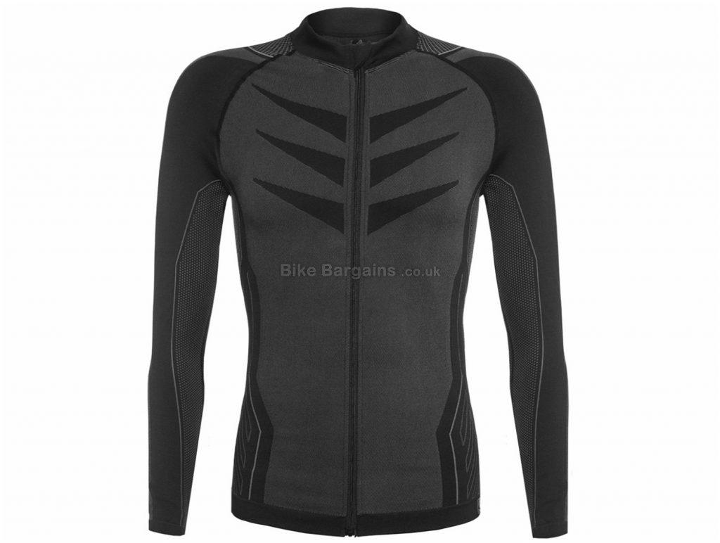 Funkier Campanina Seamless-Tech Long Sleeve Jersey XS,S, Black, Grey