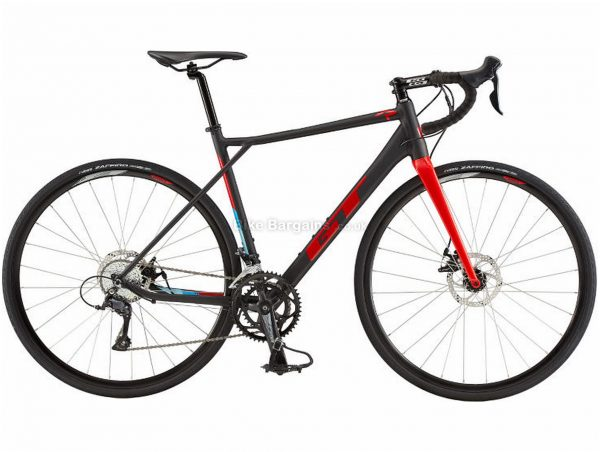 GT GTR Comp Bike Alloy Road Bike 2020 S, Black, Red, Alloy, 700c, 9 Speed, Double Chainring, Disc