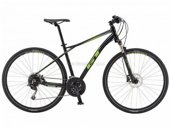 GT Transeo Expert City Hybrid Bike 2019 S, Black, Alloy, 27 Speed, Disc, 700c