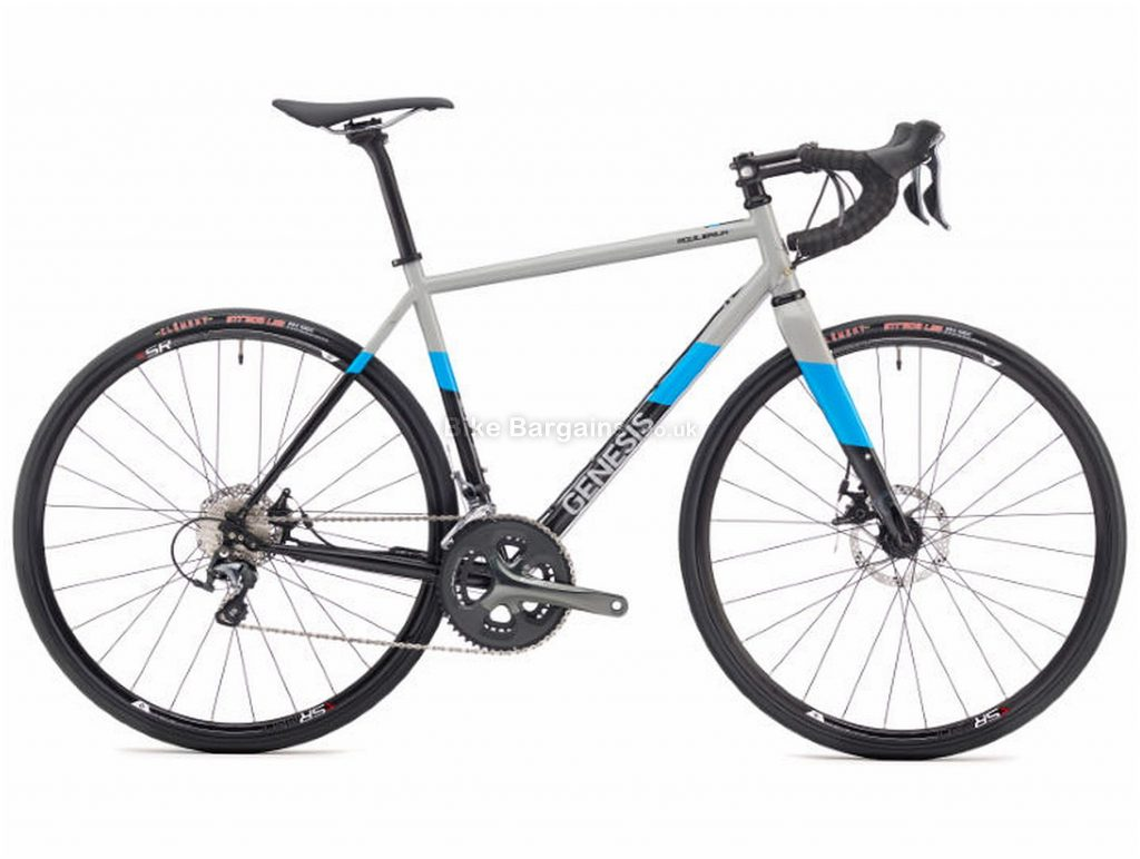Genesis Equilibrium Disc 10 Steel Road Bike 2018 S, Grey, Blue, Black, Steel, 700c, 10 Speed, Double Chainring, Disc, 10.68kg