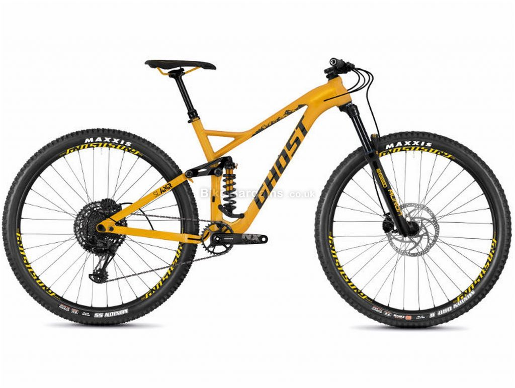 "Ghost SL AMR 4.9 Alloy Full Suspension Mountain Bike 2019 S, Yellow, Black, Alloy, 29"", 12 Speed, Single Chainring, Disc, Full Suspension"