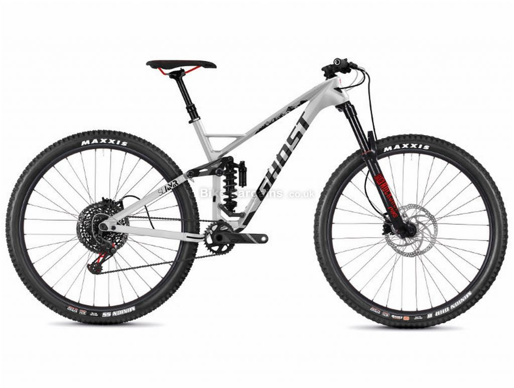 "Ghost SL AMR 9.9 Carbon Full Suspension Mountain Bike 2019 XL, Silver, Black, Carbon, 29"", 12 Speed, Single Chainring, Disc, Full Suspension"