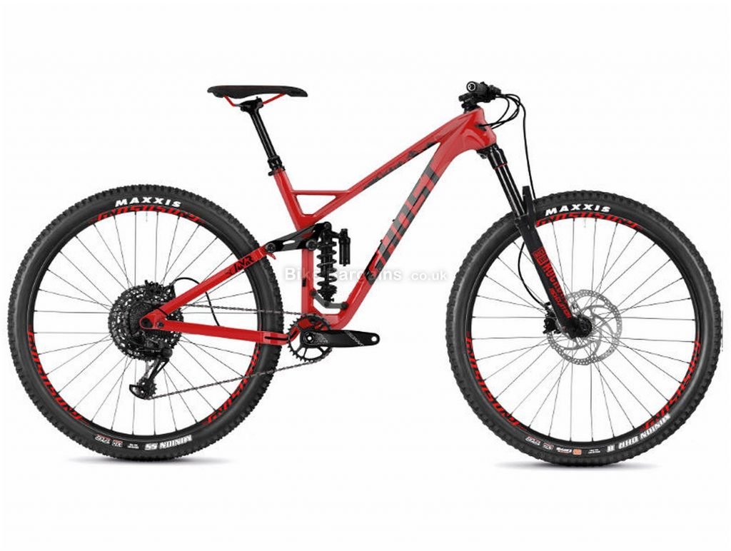 "Ghost Slamr 6.9 Carbon Full Suspension Mountain Bike 2019 S, Red, Black, 29"", Full Suspension, 12 Speed, Disc, Single Chainring"