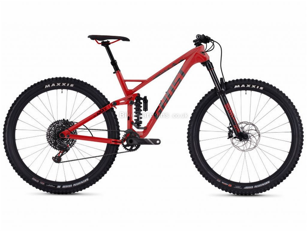 "Ghost Slamr X7.9 29"" Alloy Full Suspension Mountain Bike 2019 18"", Red, Black, Alloy, 27.5"", 12 Speed, Single Chainring, Disc, Full Suspension"
