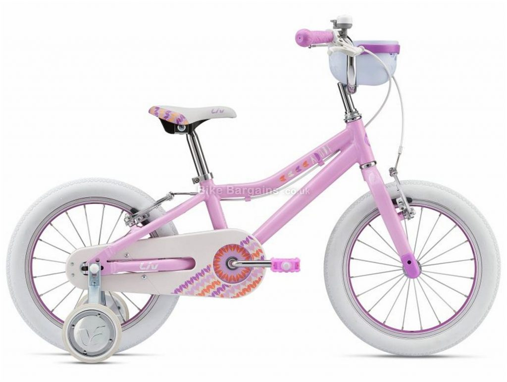 "Giant Liv Adore 16 Alloy Kids Bike 2019 16"", Pink, 16"", Alloy, Single Speed, Single Chainring, Caliper Brakes"