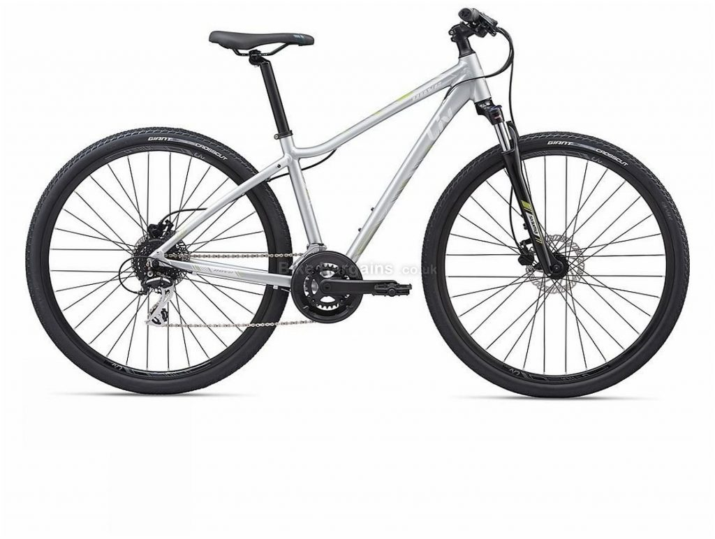 Giant Liv Ladies Rove 3 Disc Alloy City Bike 2020 M, Silver, 700c, Alloy, 11 Speed, Double Chainring, Disc