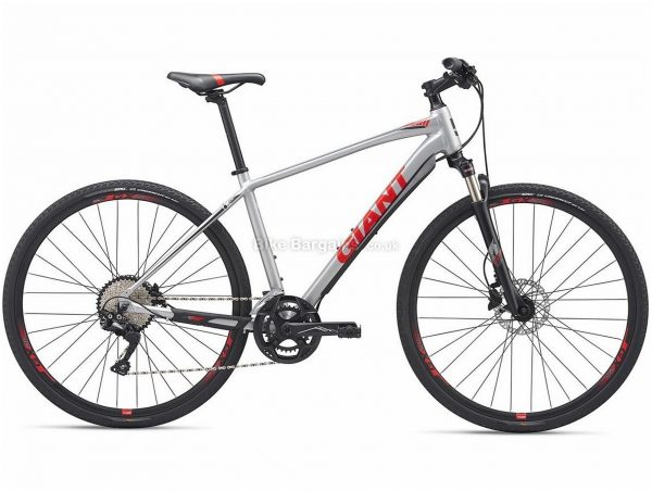 Giant Roam 1 Disc City Hybrid Bike 2019 M, Silver, Alloy, 20 Speed, Disc, 700c