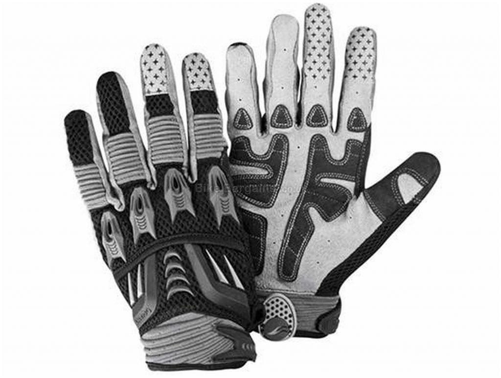 Giant Trail X Gloves 2017 S, Black, Grey, Blue, White