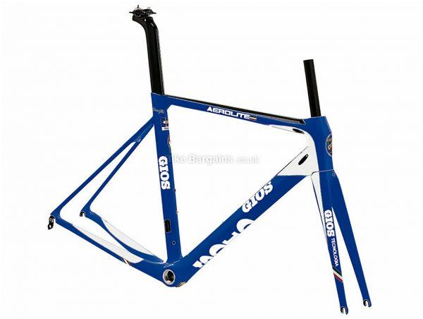 Gios Aero Lite Calipers Carbon Road Frame 58cm, Blue, Carbon, 700c, Caliper Brakes, 1.34kg