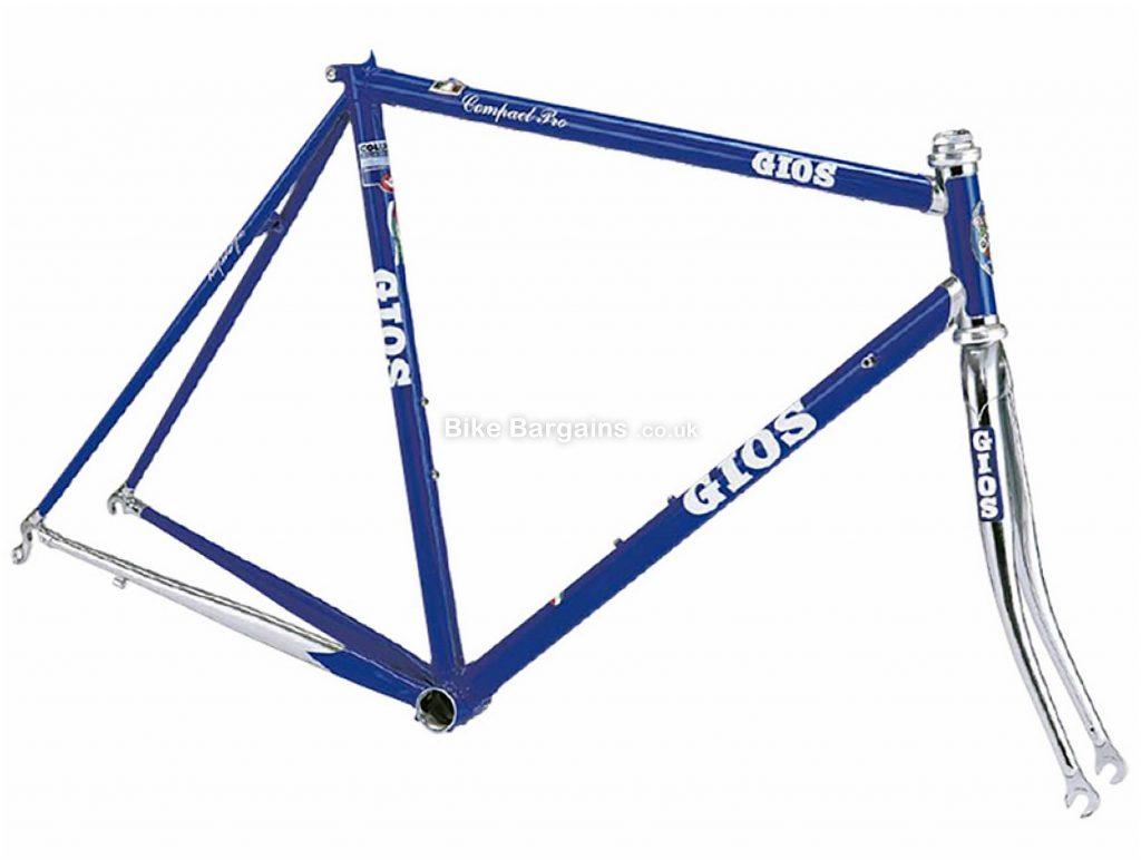 Gios Compact Pro Calipers Steel Road Frame 58cm, Blue, Silver, Steel, 700c, Caliper Brakes, 2.65kg