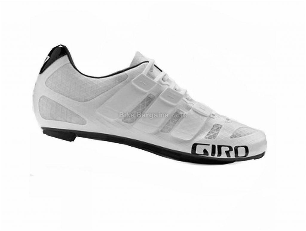 Giro Prolight Techlace Road Shoes 46, White, 150g, Men's, Road, Carbon, Laces