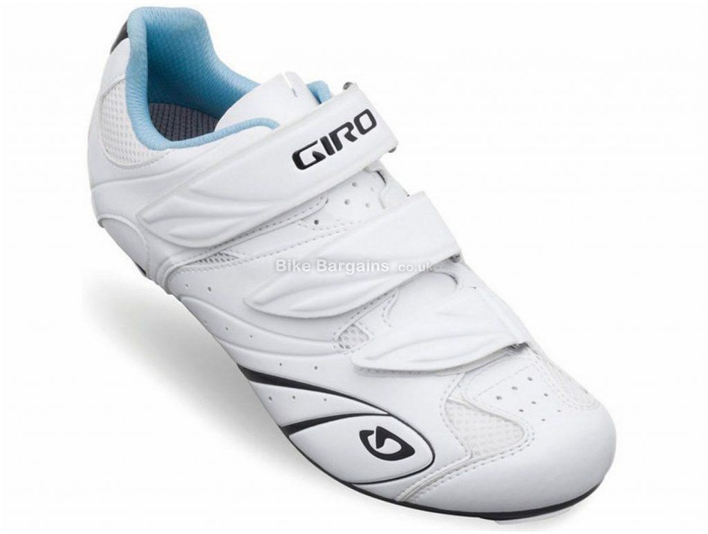 Giro Sante II Ladies Road Shoes 43, White, Blue, 230g, Ladies, Road, Nylon, EVA, Velcro