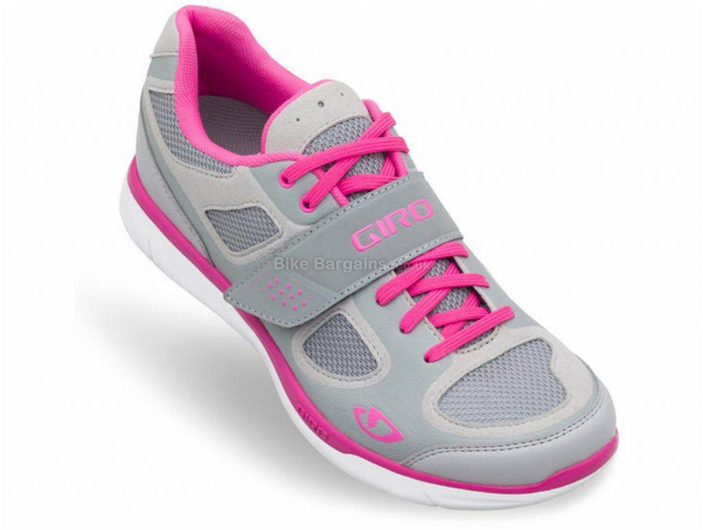 Giro Whynd Ladies MTB Shoes 43, Grey, White, Yellow, Ladies, MTB, Rubber, EVA, Laces, Velcro