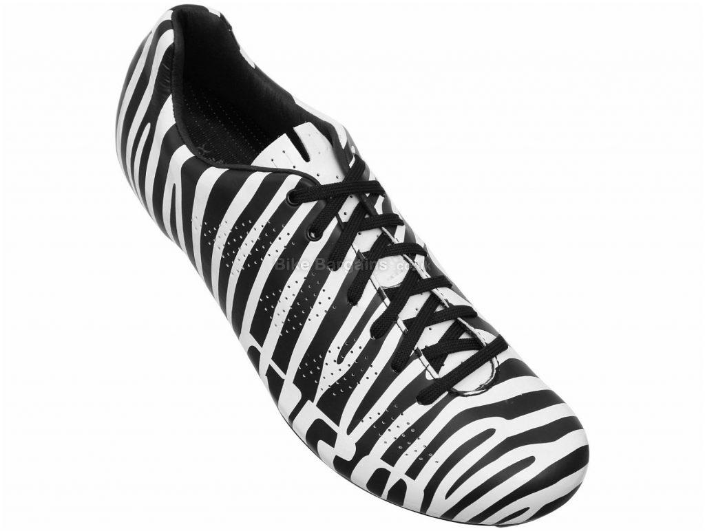 Giro Zebra Empire Road Shoes 43, Black, White, 215g, Men's, Road, Carbon, Laces