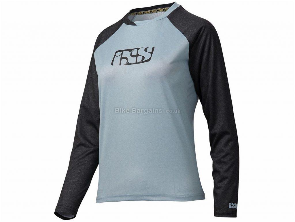 IXS Ladies Progressive 7.1 Long Sleeve Jersey 2017 XXS,XS,M,L,XL,XXL, Grey, Black