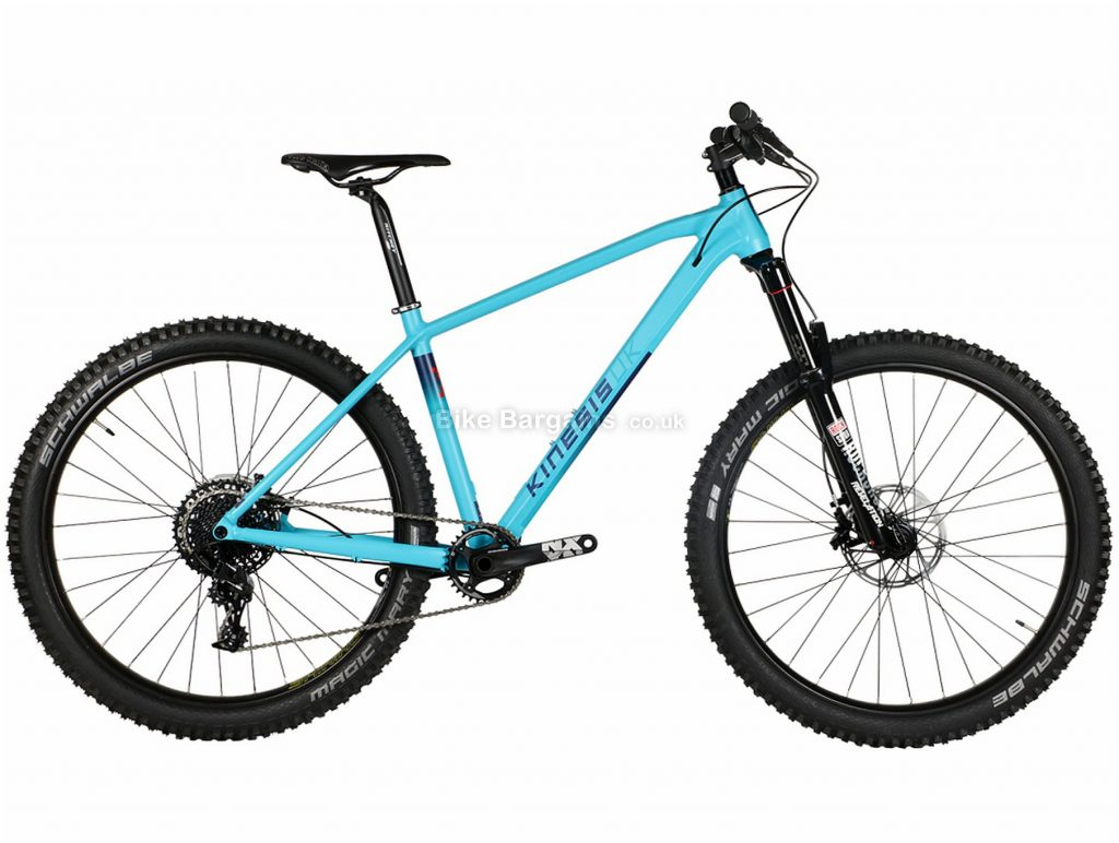 "Kinesis Maxlight X Alloy Hardtail Mountain Bike 2019 M, Blue, Alloy, 27.5"", 11 Speed, Single Chainring, Disc, Hardtail"