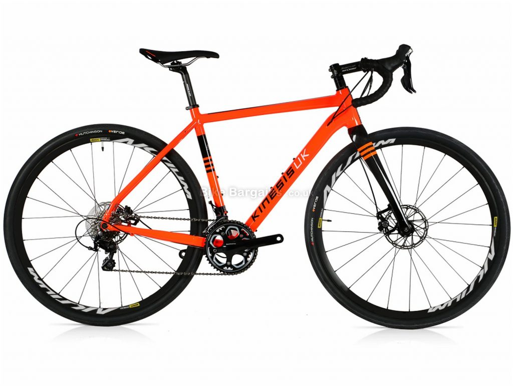 Kinesis Tripster AT 105 Alloy Gravel Bike 2019 57cm, Orange, Alloy, 700c, 11 Speed, Double Chainring, Disc