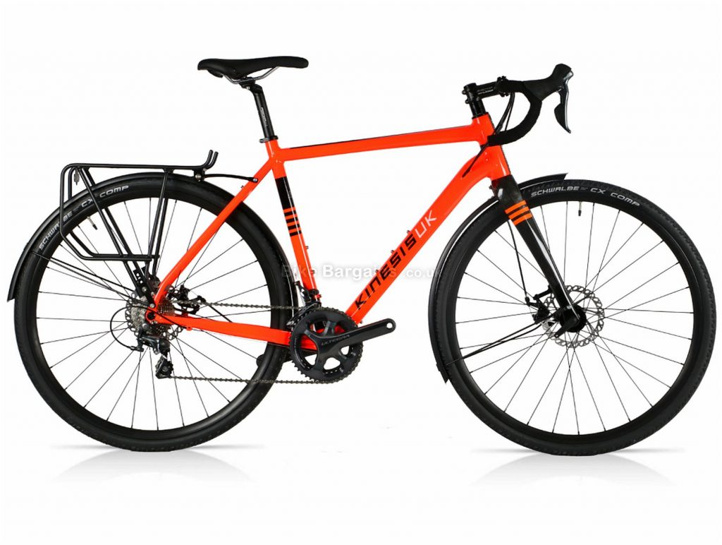 Kinesis Tripster AT Tiagra Mix Alloy Gravel Bike 2019 54cm, Orange, Alloy, 700c, 10 Speed, Double Chainring, Disc