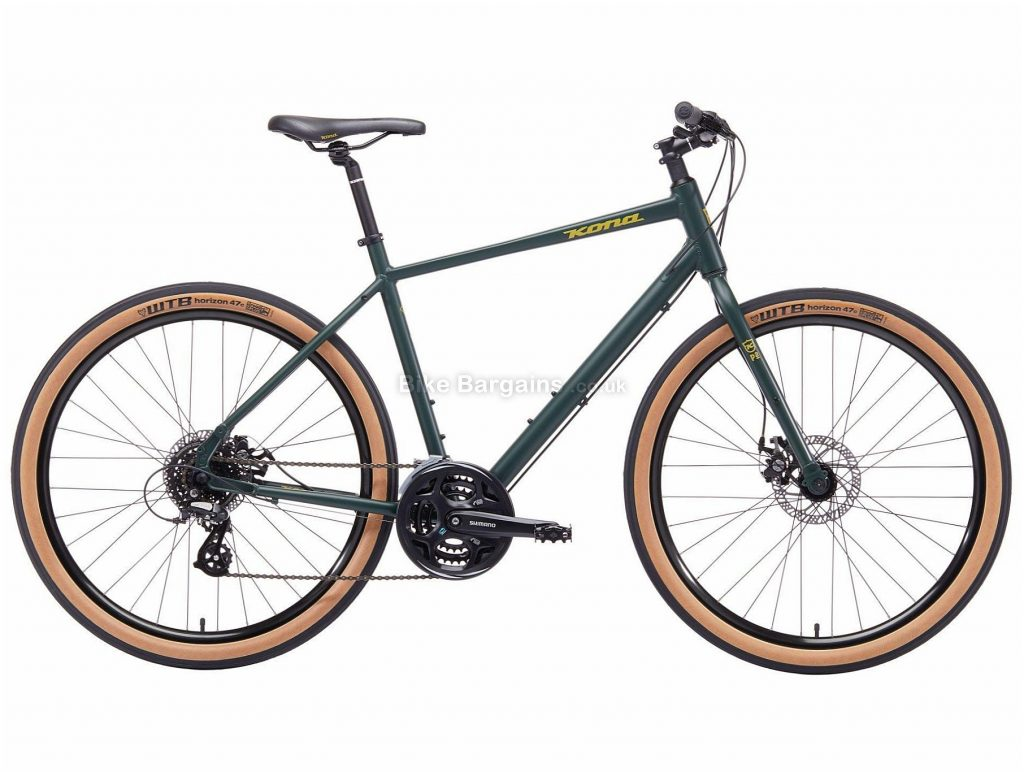 Kona Dew Alloy Hydrid City Bike 52cm, 55cm, Green, Alloy, 650c, Disc, Hardtail, 8 Speed